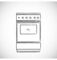 Old vintage oven vector image