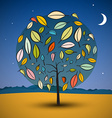 Tree on Abstract Landscape vector image