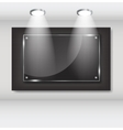 Large Black frame vector image vector image