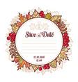 Wedding card template autumn background invitation vector image