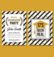 graduation party template invitation vector image vector image