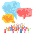 Crowd of people expressing special idea with vector image vector image