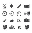 big data icon set system infrastructure vector image