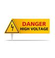 Danger High Voltage vector image
