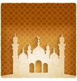ramadan kareem golden background with Islamic vector image
