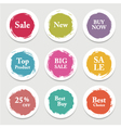 Colorful paper circle sticker label banner with vector image