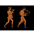ancient Greek musicians vector image