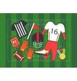 American football set vector image
