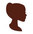 woman head silhouette icon vector image