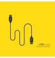 Abstract background with usb cable vector image