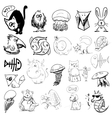 Animals sketch vector image