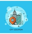 Big city landscape business center view with vector image