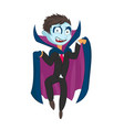 cartoon dracula kid on isolated vector image