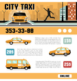 City Taxi Services Web Page Template vector image