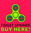 fidget spinner stress relieving toy trendy hand vector image
