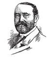 Frederick dent grant vintage vector image