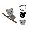 koala bear in flat and icon vector image