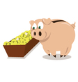 Mr Pig dinner vector image