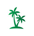 palm tree sign logo vector image