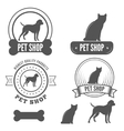 Set of vintage badge emblem and label elements vector image