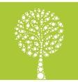 Tree mosaic of dots vector image