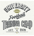 University football training camp t-shirt vector image