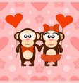 valentines day seamless background card with monk vector image