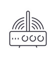 wireless router line icon sig vector image