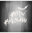 Halloween design template card Abstract film noir vector image vector image