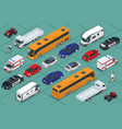 flat isometric high quality city transport car vector image