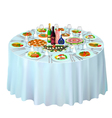 gala buffet served vector image vector image