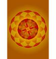 mandala of fire vector image vector image