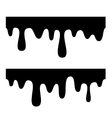Melted Chocolate Drips Seamless Elements vector image