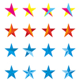 Star design logo vector image vector image