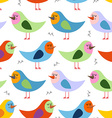 Seamless pattern of colorful birds background for vector image