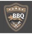 BBQ emblem design vector image