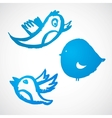 Grunge Blue Birds Set vector image vector image