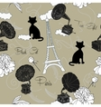 Seamless pattern with Paris and music vector image