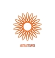 Abstract Flower Mandala Icon over white vector image