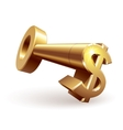 Gold dollar key vector image