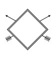 label rhombus arrow decoration rustic design vector image