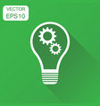 lightbulb idea icon business concept bulb vector image