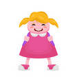 little girl from the beginning class in a pink vector image