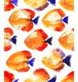 seamless pattern with watercolor discus vector image