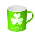 St Patricks Day Cup vector image