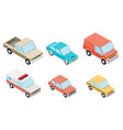 isometric selection of vehicles vector image