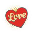 word love heart vector image