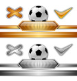 football score gold silver vector image