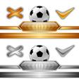 football score gold silver vector image vector image