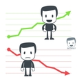 chart icon man vector image